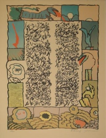 Litografía Alechinsky - Brassée sismographique