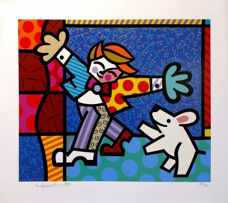 Serigrafía Britto - BRENDAN AND THE WISHING DOG