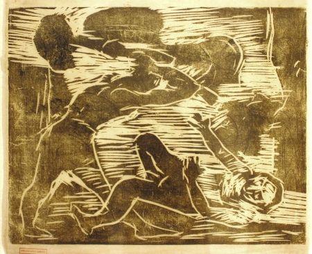 Grabado En Madera Corinth - Brudermord (Cain and Abel)