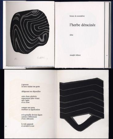 Libro Ilustrado Ubac - Bruno de MONTALIVET. L'HERBE DÉRACINÉE. Gravures de Raoul Ubac