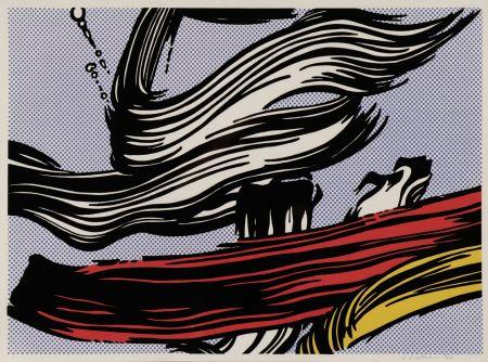 Serigrafía Lichtenstein - Brushstroke