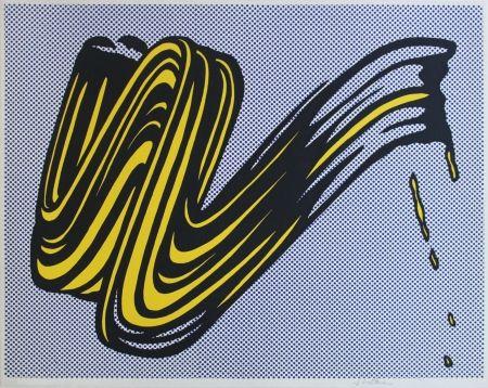 Serigrafía Lichtenstein - Brushstroke Corlett II 5