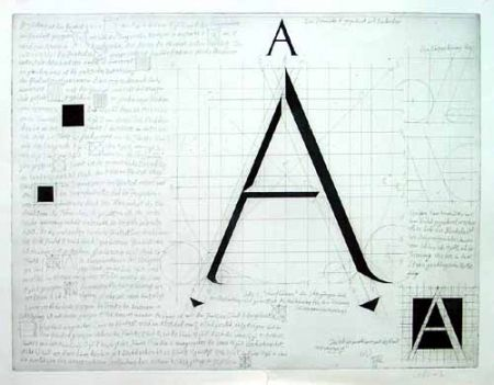 Grabado Bunz - Buchstabe A / The Letter A