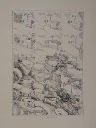 "Litografía Thomkins - ""burgunder"""