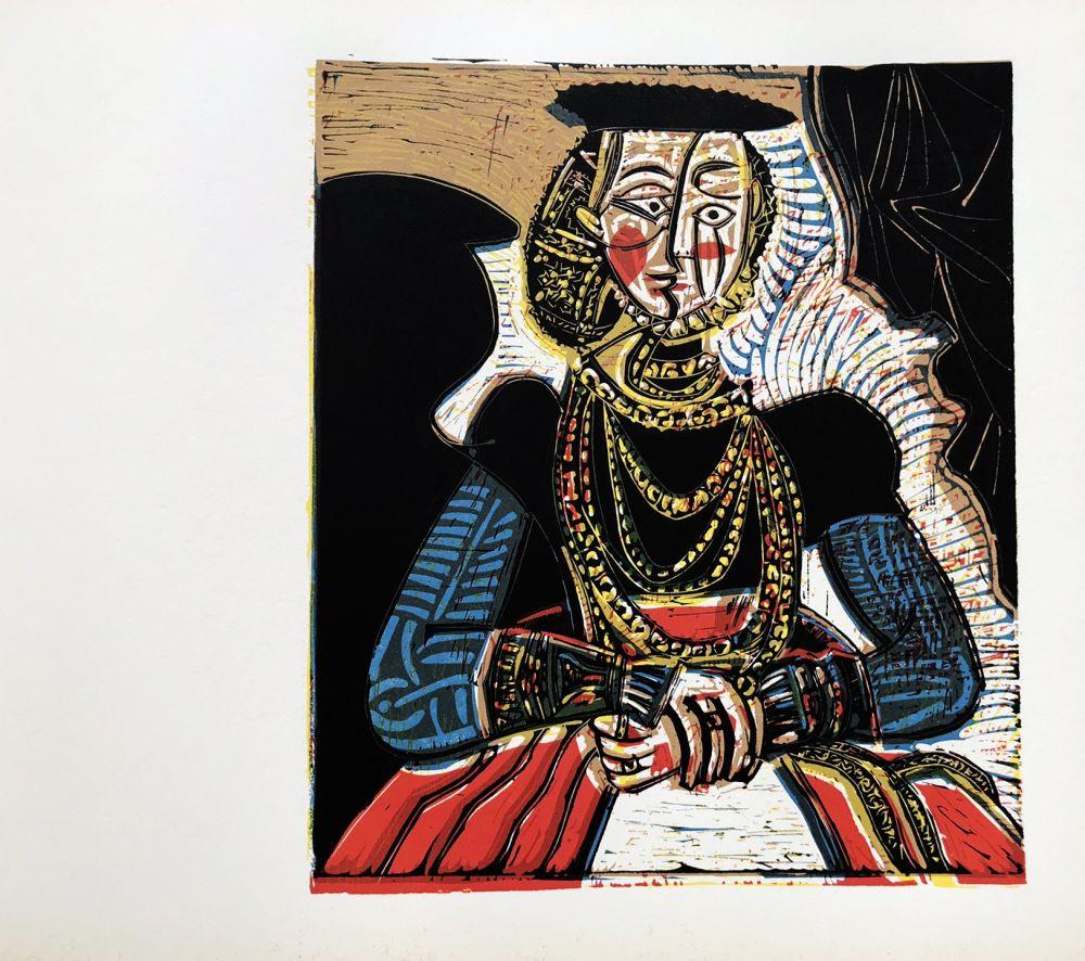 Linograbado Picasso (After) - Buste de femme after granache jeune