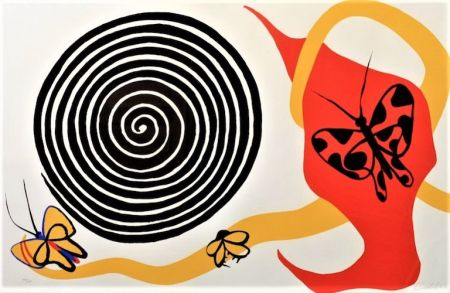 Litografía Calder - Butterflies And Spiral