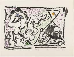 Litografía Alechinsky - Buvard, 1964