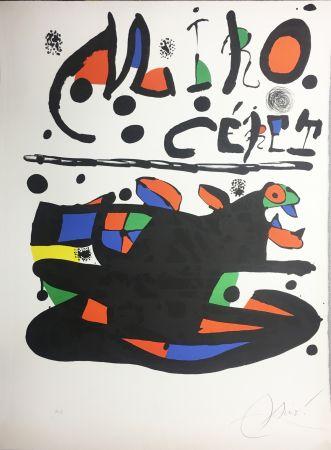 Litografía Miró - CÉRET. Lithographie originale signée ( 1977).
