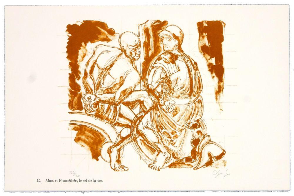 Litografía Nørgaard - C. Mars et Prométhée.