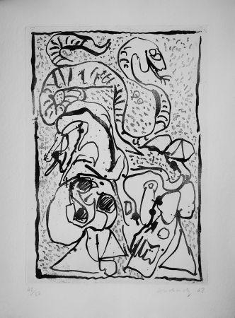 Aguafuerte Alechinsky - Ca serpente