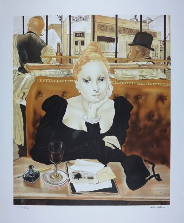 Litografía Foujita - CAFE