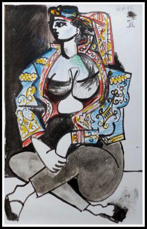 Litografía Picasso (After) - CAHIER DE LA CALIFORNIE IX