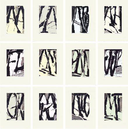 Serigrafía Titus Carmel - Cairn - 12 sérigraphies