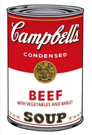 Serigrafía Warhol - '' Campbell 's  Soup ''