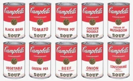 Serigrafía Warhol (After) - Campbell soup 10 silkscreens