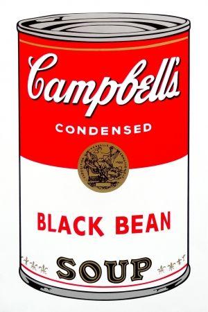 Serigrafía Warhol (After) - Campbell's Soup - Black Bean