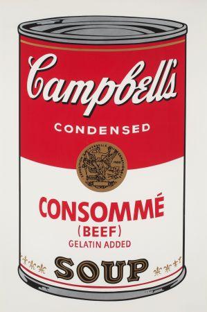 Serigrafía Warhol - Campbell`s Soup (Beef Consommé)
