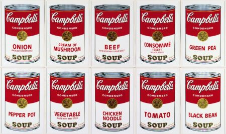 Serigrafía Warhol - Campbell´s Soup Can Set Of 10