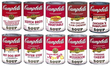 Serigrafía Warhol - Campbell´s Soup Can Set Of 10 Serie 2