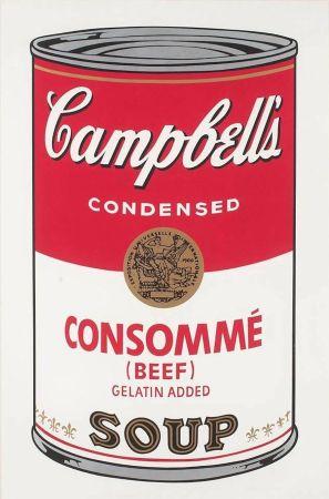 Serigrafía Warhol - Campbell's Soup: Consommé (FS II.52)