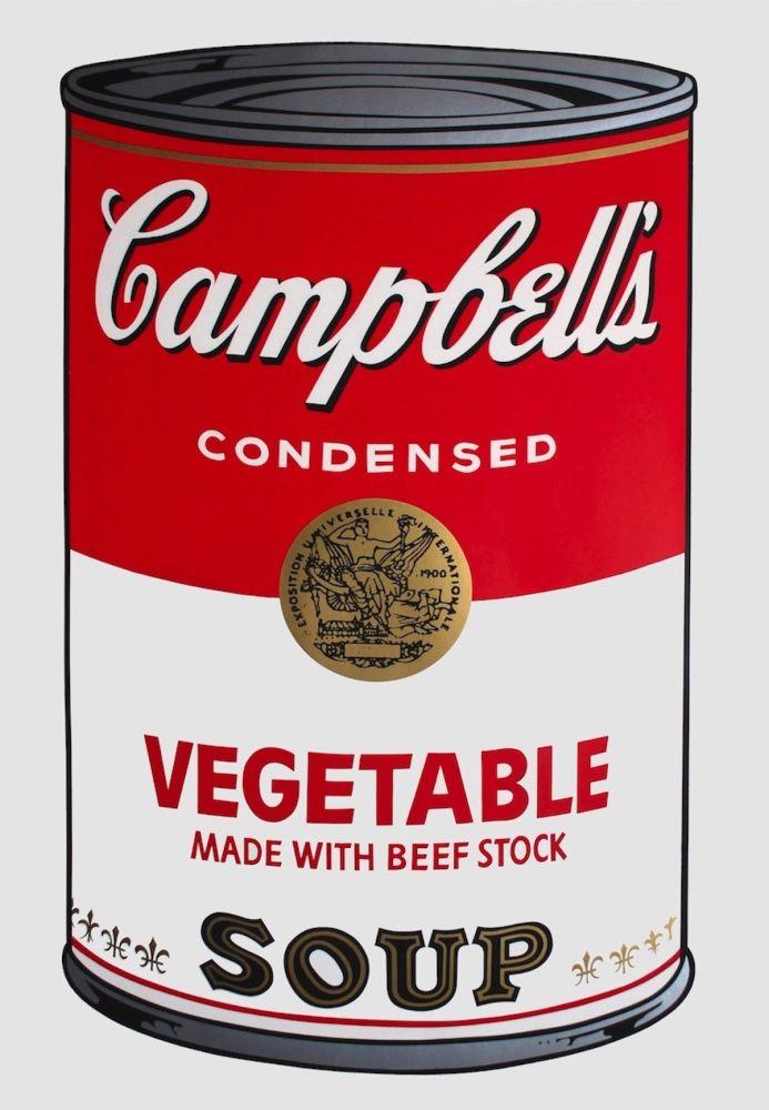 Serigrafía Warhol - Campbell's Soup I: Vegetable (FS II.48)