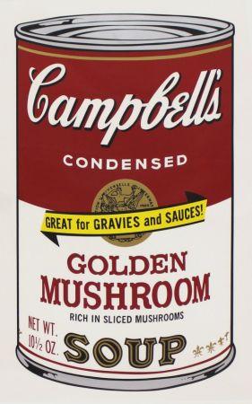 Serigrafía Warhol - Campbell'S Soup Ii: Golden Mushroom (Fs Ii.62)