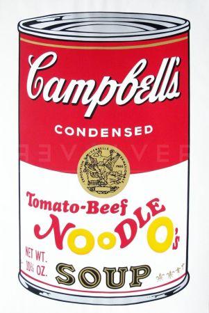 Serigrafía Warhol - Campbell'S Soup Ii: Tomato Beef Noodle O'S (Fs Ii.61)