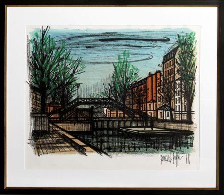 Litografía Buffet - Canal St. Martin
