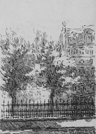 Aguafuerte Castellani - Cancellata del British Museum