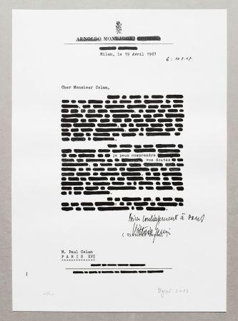 Litografía Isgro - Cancellature