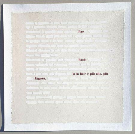 Serigrafía Isgrò - Cancellature (la luce è più alta)