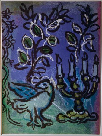 Litografía Chagall - Candlestick