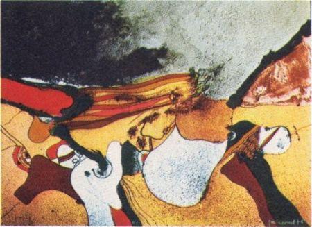 Litografía Guinovart - Cap A Fora