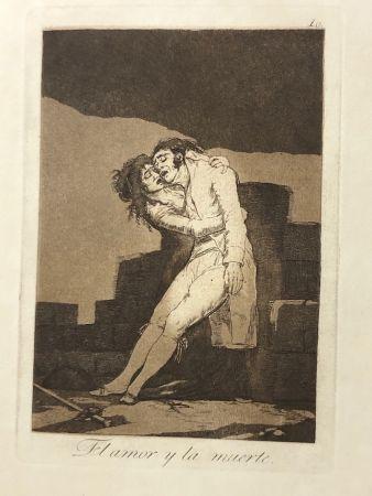 Aguafuerte Goya - Capricho10. El amor y la muerte