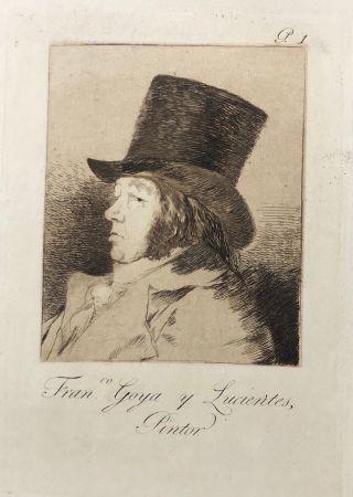 Aguafuerte Goya - Capricho1. Francisco , Goya y Lucientes pintor