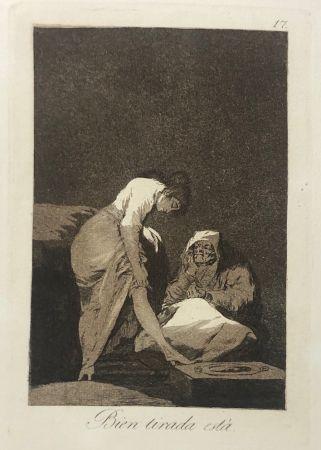 Aguafuerte Goya - Capricho 17. Bien tirada está