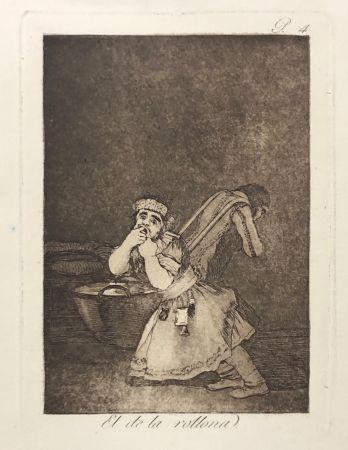 Aguafuerte Goya - Capricho 4. El de la rollona