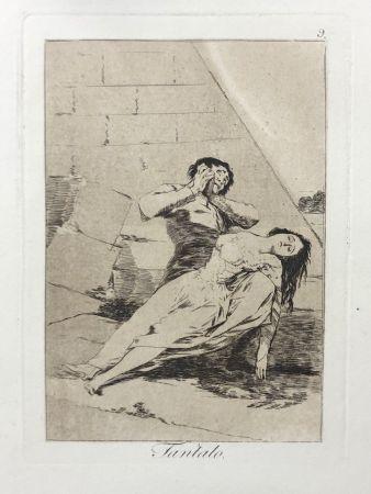 Aguafuerte Goya - Capricho 9. Tantalo