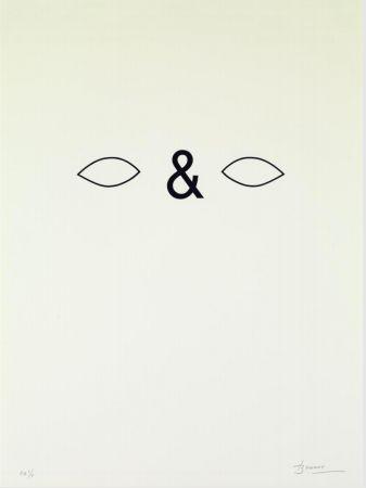 Litografía Brossa - Careta. 1988