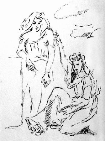 Litografía De Pisis - Carmi di Catullo XI