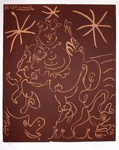 Linograbado Picasso - Carnaval 1967