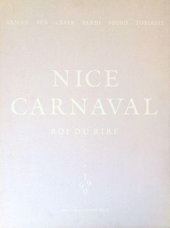 Litografía Vautier - Carnaval de Nice