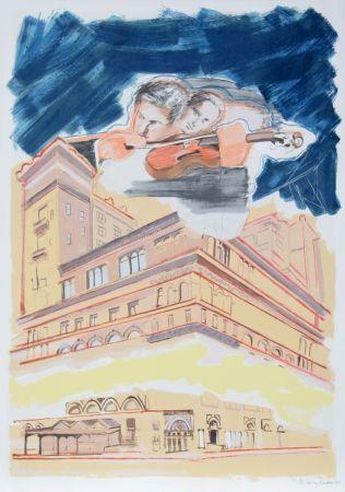 Litografía Rivers - Carnegie Hall