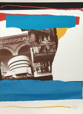 Litografía Motherwell - Carnegie Hall