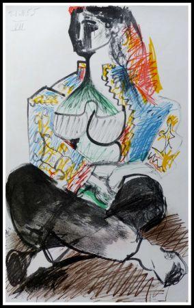 Litografía Picasso (After) - CARNET DE CALIFORNIE VIII