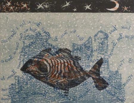 Litografía Lurcat - Carpe de lune