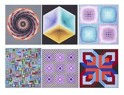 Serigrafía Vasarely - Carpeta Jalons