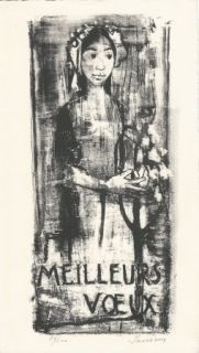 Litografía Jansem - Carte de voeux