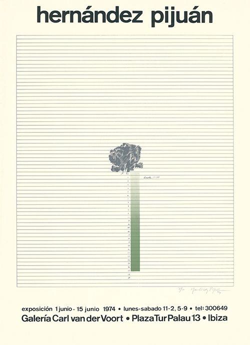 Serigrafía Hernandez Pijuan - Cartel de la exposición Galería Carl van der Voort, Ibiza