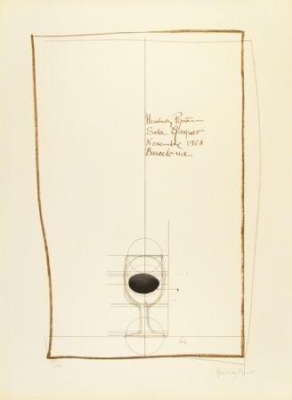Litografía Hernandez Pijuan - Cartel exposición Sala Gaspar